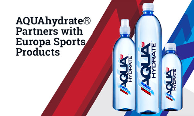 AQUAhydrate® Partners with Europa Sports Products to Enhance its Performance Lifestyle Water Distribution