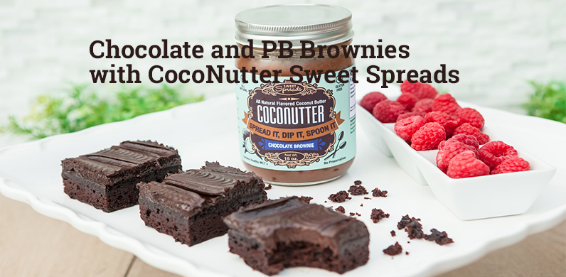 Chocolate and PB Brownies with CocoNutter Sweet Spreads