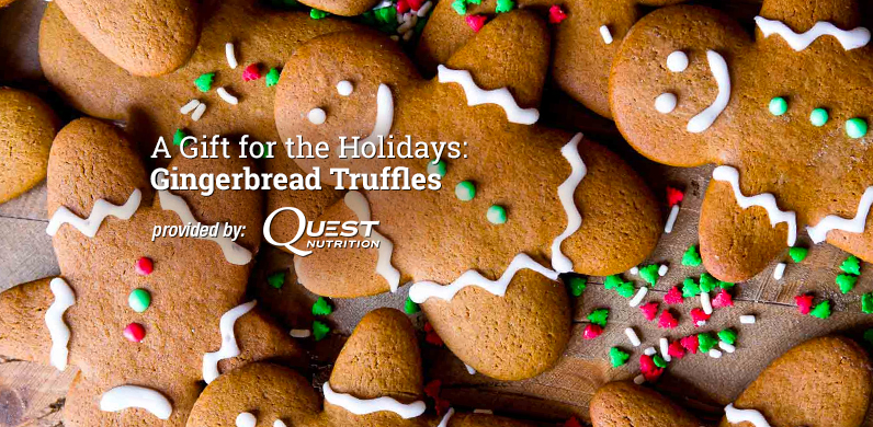 A Gift for the Holidays: Gingerbread Truffles via Quest Nutrition