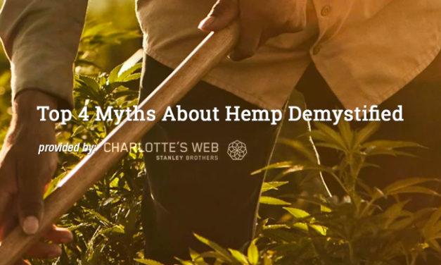 Top 4 Myths About Hemp Demystified via Charlotte's Web