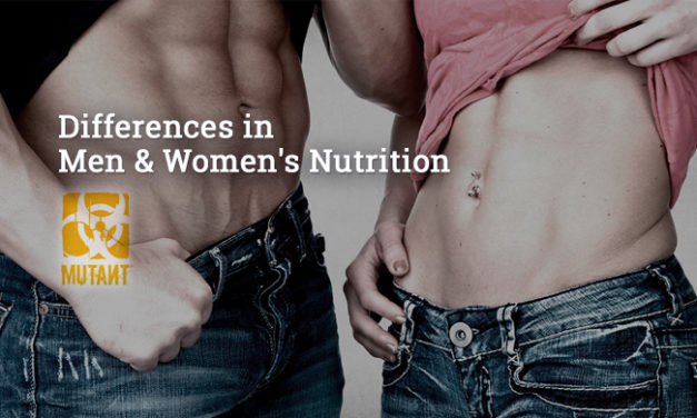 Differences in Men & Women's Nutrition via Mutant Nutrition