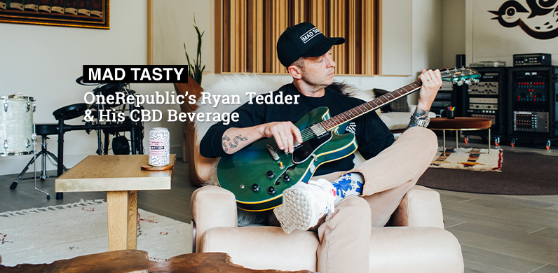 OneRepublic's Ryan Tedder & His CBD Beverage via Mad Tasty