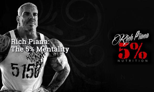 Rich Piana: The 5% Mentality via 5% Nutrition