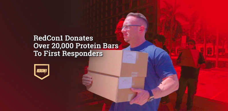 REDCON1 Donates Over 20,000 Protein Bars To First Responders