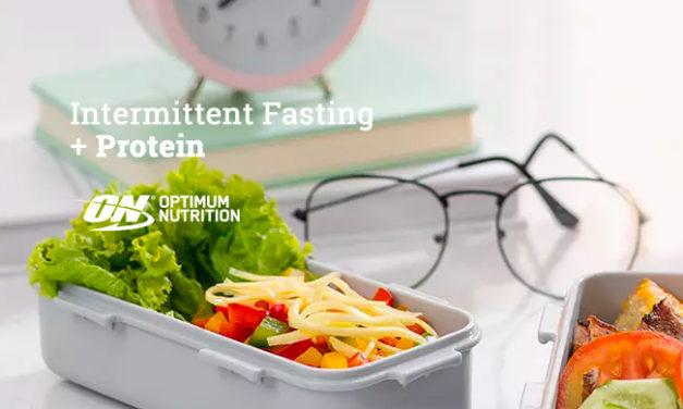 Intermittent Fasting + Protein via Optimum Nutrition
